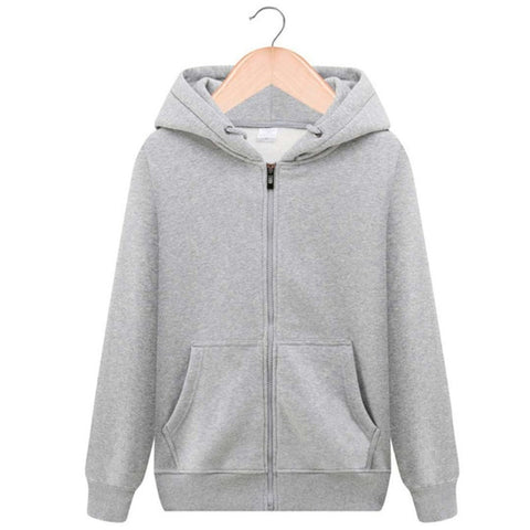 Hoodie Pure color Sweatshirts Zipper hoodies men's role models women's role models wear their own personality Pure color hoodies