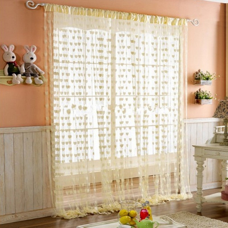 Colorful Love Line Curtain W100xH200cm Fashion Valance Living Room Divider  Wedding DIY Home Decoration 240&40