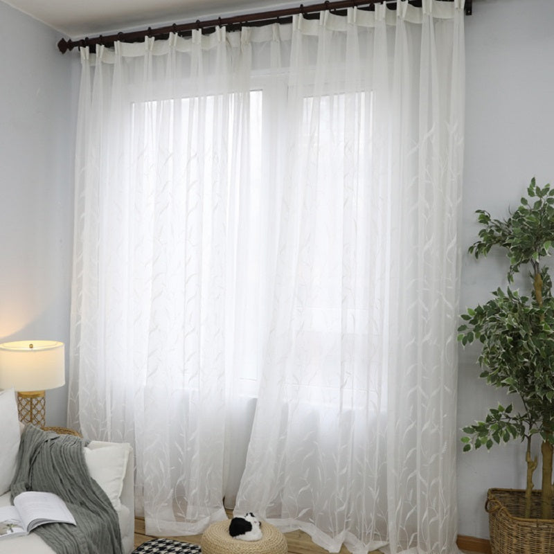 Modern style plaid jacquard tulle curtain for living room white check pattern voile window sheer panel for bedroom 061&30