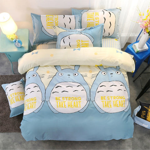Japan Anime My Neighbor Totoro Bedding Set Printing Bedding Set 1pc Duvet Cover Comforter Blanket Case Quilt Cover  BT-05