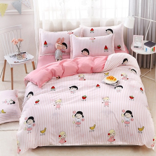 Green Cactus Bedding Set Queen Size Plant Home Bedding Sheet Single Bed Linen ropa de cama King Bed Set Duvet Cover