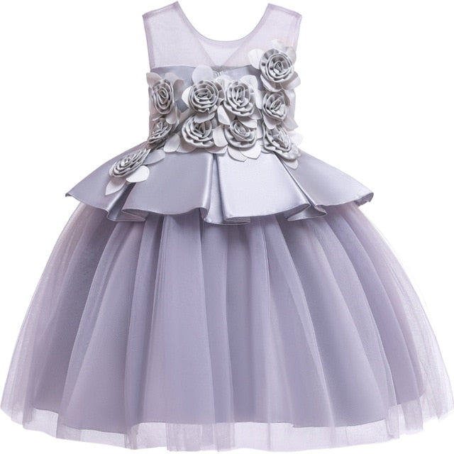 48199e5aaab48 Pegeant Sequined Backless Kids Dresses for Girls Wedding Party Princess  Dresses Baby Girls First Communion Layered Tutu Dresses