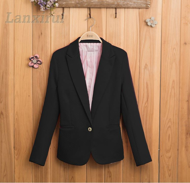 Hot Women New Candy Color Jackets Suit Slim Yards Ladies Blazers Work Wear Jacket