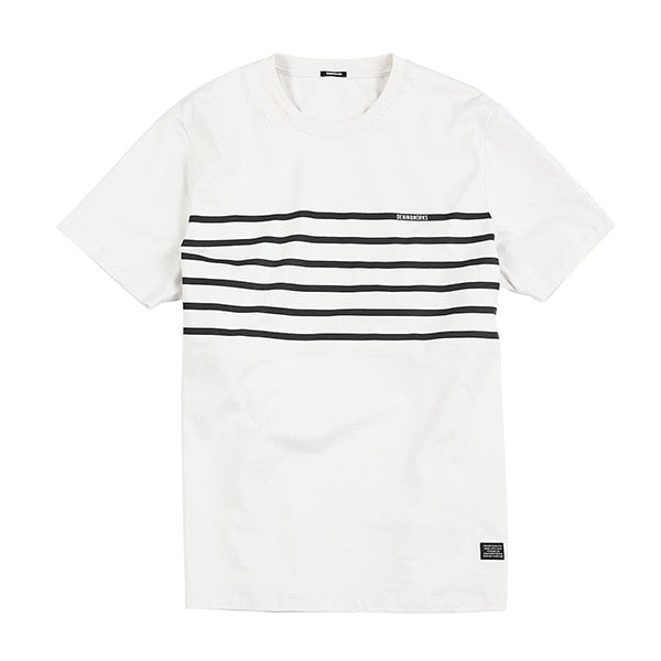 Summer new causal t shirt men striped fashion tshirt 100% cotton high quality brand clothing