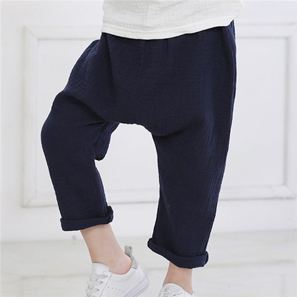 Summer Cotton Linen Newborn Toddler Infant Baby Boys Girls Pants Unisex Casual Harem Pants PP Babies Babies Clothing cheap