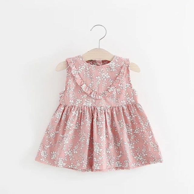 071b83aa5533d Baby Girls Dress Casual Summer Floral Print Cotton Baby Dress Lovely  Princess Dresses Baby Girl Clothing For 0-24M Kids