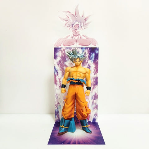 Dragon Ball Z Goku Ultra Instinct Figure Toys Dragon Ball Super Son Goku Figurine With Acrylic Bust Base Figura