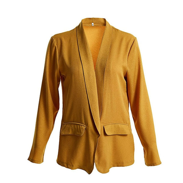 5XL Casual Blazer Jacket Women Long Sleeve Autumn Jackets Plus Size Winter Loose Coat Elegant Ladies Blazer Mujer