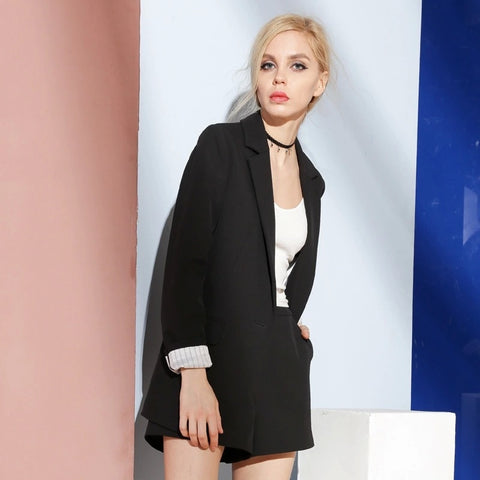 4de3024a5c Woman Work Suit OL Straight Black Business Blazer Quality Office Suit  Jackets Coat Wear Fashion Casual