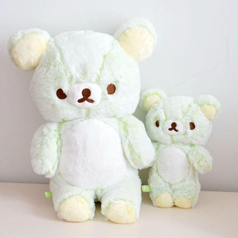 Cute San-x Green Rilakkuma Relax Bear Plush Toy Doll Teddy Bears Soft Stuffed Animals Pillow For Baby Kids Girls Birthday Gifts