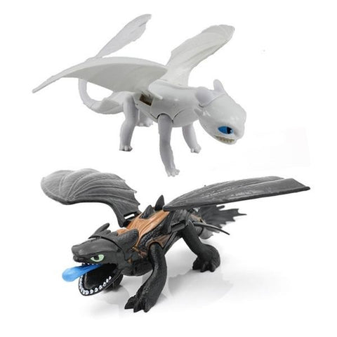 Movie How To Train Your Dragon 3 Black/white Toothless Dragon Night Fury Light Fury Action Figure Toys Model Figures Toy