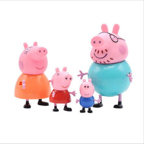 Peppa Pig Family George Dad Page Mom Action Figure Original Pelucia famous Peppa Anime Toys Kids Birthday Christmas Gift Toy
