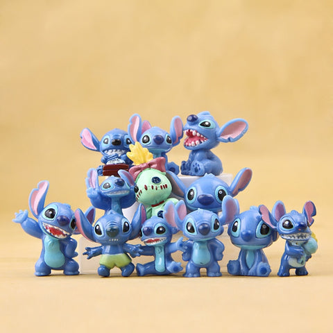 3cm 12pcs Stitch Mini Toys Figure Anime Stitch Action Figure Christmas Gifts and Dolls Home Party Supply Decoration MicroToys