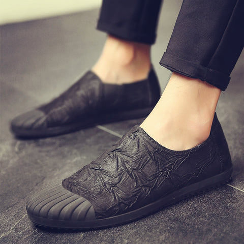 Fashion Men's Canvas shoes Male casual soft low top slip on shoes men loafers Driving Shoes breathable Loafers MA-92
