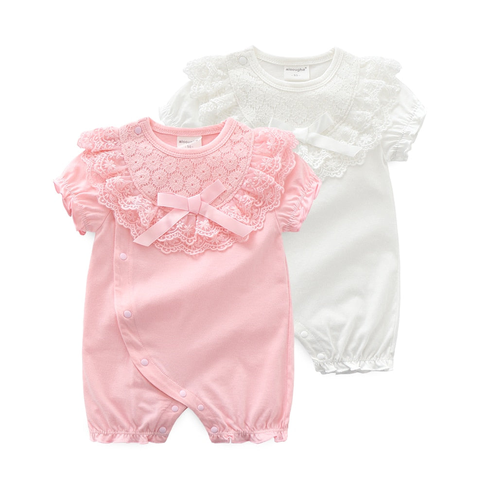 00490364c7a31 Princess Newborn Baby Girl Clothes Lace Flowers Jumpsuits Girls Rompers for  2019 Summer Baby Body suits One-Pieces