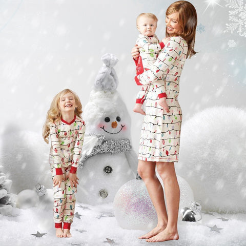 9a488d3751b5 Mommy and Me Clothes Family Matching Mother Daughter Pajamas Clothes Mother  Dress Kids Child Outfits Mum