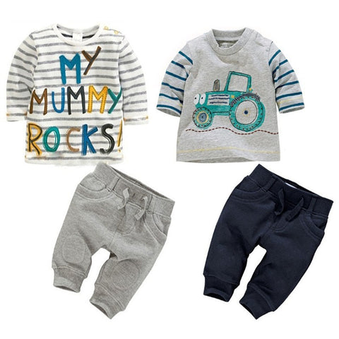 Kids clothes Spring toddler boy clothing set Long sleeve Top+Pants 2pcs suits boutique girls and boys clothing Casual Tracksuit