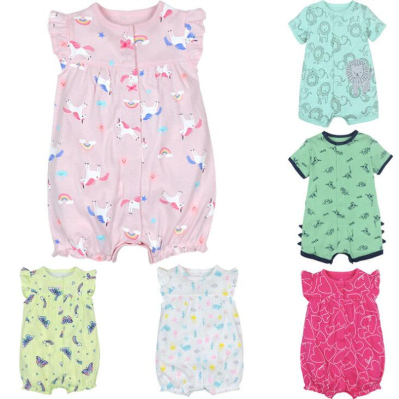 baby girl clothes baby romper summer cotton short sleeve girl Jumpsuit Kids Baby Outfits Clothes overalls for newborns