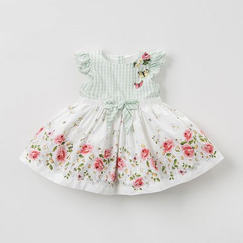 Summer baby girl's princess cute floral dress children fashion party dress kids infant flower lolita clothes