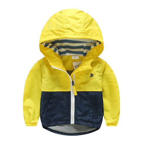 6404fc4a7 Spring Autumn Jacket For Boys Kids Coat Toddler Hooded Windbreaker Children  Outerwear Minnie Baby Clothes infant