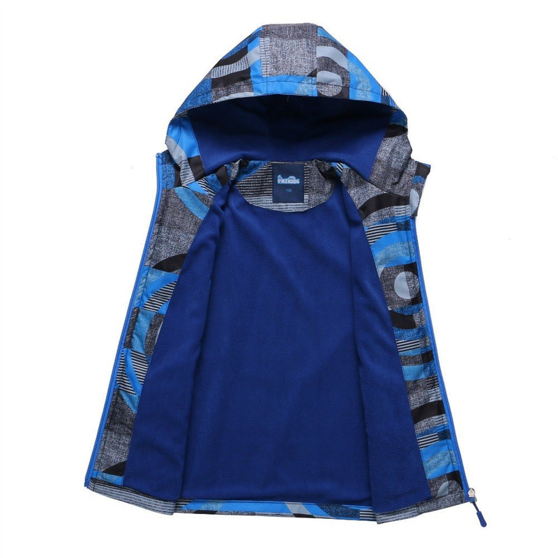 Waterproof Index 10000mm Windproof Baby Boys Jackets Children Outerwear Casual Warm Child Coat For 3-12 Years Old