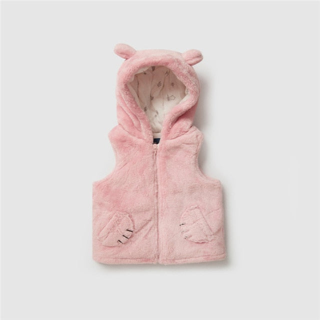 Baby Critter Hooded Vest Fleeve Vest with Hood Baby Boy Girl Outwear Clothes Clothing Casual Kid Waistcoat Newborn