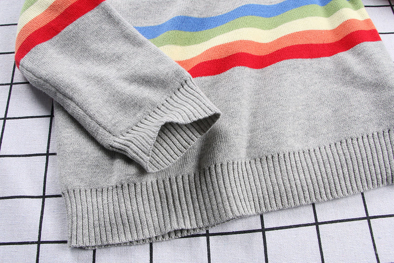 New Style Spring Boys Cotton Thread Sweater Baby Kids Jumper Striped 100% Cotton autumn knitted clothes Coats