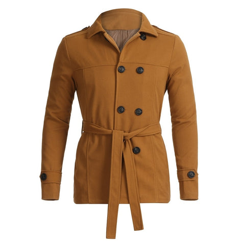 New  Fashion Men's Coat Autumn Winter  Warm  Slim Fit Long Sleeve Top Jacket Trench Coat Outwear 18NOV8