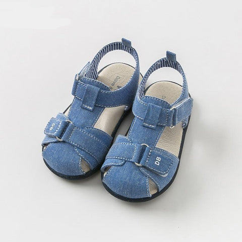 Summer baby boy sandals new born pre walkers infant shoes boy blue sandals casual shoes