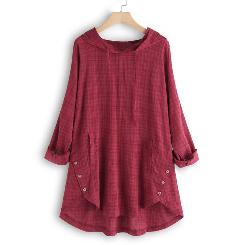 Blouse Women Plus Size Women Long Sleeve Kaftan Baggy Button Cotton Linen Casual Tunic Blouse Chemisier Femme Womens Blouses