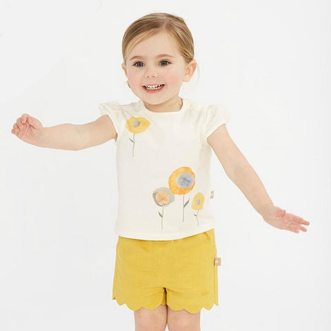 Summer baby girl clothing sets children lovely print suits toddler infant high quality clothes girls outfit DBM10560