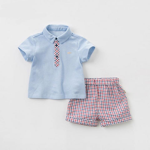 Summer baby boys clothing sets fashion children solid suits  infant high quality clothes boys outfit