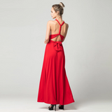 Sexy Long Dress Bridesmaid Formal Multi Way Wrap Convertible Infinity Maxi Dress Red Hollow Out Party