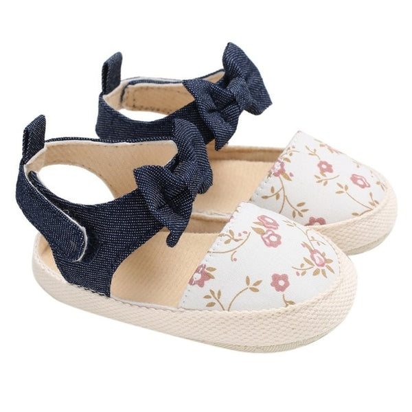 Newborn Baby Shoes Printed Sandals for Girls Summer Print Baby Girls Sandals Cotton Printed Beach Sandals Princess Shoes