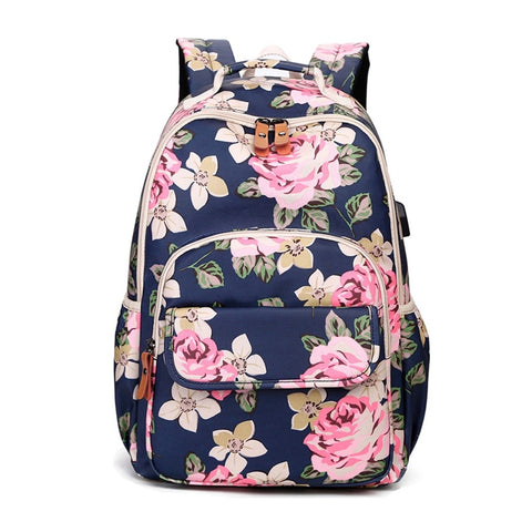 kids pink flower backpack floral school bags for teenage girls book bag cute backpacks for children girl school backpack