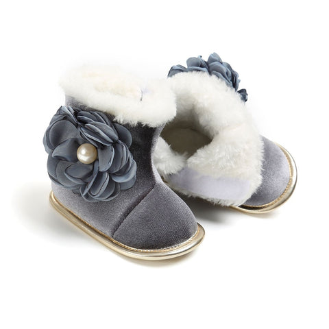 Baby First Walkers Baby Shoes Fashion Cute Warm Soft Bottom Non-slip Baby Winter Shoes