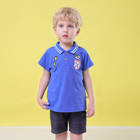 Cotton Baby Sets Casual Sports Suits Boy T-shirt + Shorts Boy Clothes Sets Toddler Clothing sets Kids 12 3 4 5 tracksuit school