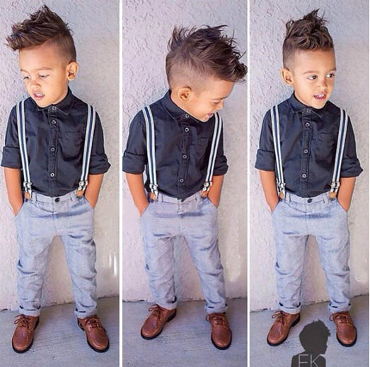 fashion boys clothes set children set children shirt + jeans gentleman pants kids set retail