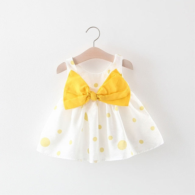 f5fb16f51796e Baby Girls Dress Summer Clothes Baby Girl Clothes Princess Newborn Baby  Dresses Print Dot Bow Sleeveless Toddler Clothes