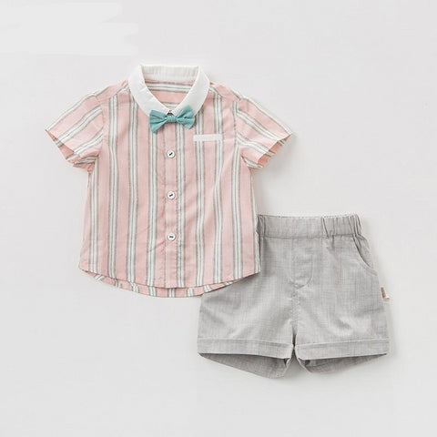 summer baby boys clothing sets fashion children  striped suits  infant high quality clothes boys outfit