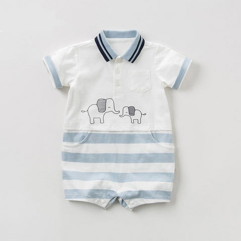 Summer new born baby boy short sleeve romper infant toddler jumpsuit children boutique romper 1 piece