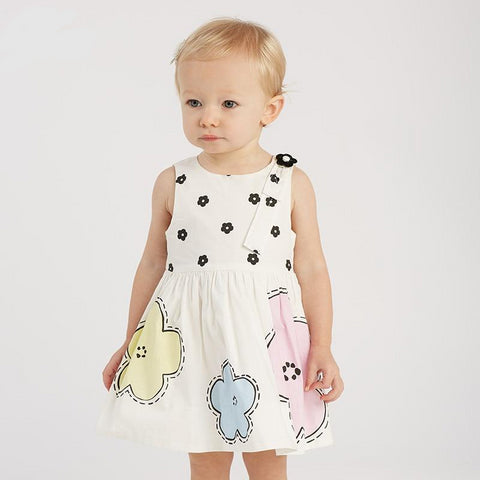 Summer baby girl's princess cute flowers dress children fashion party dress kids infant lolita floral clothes