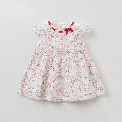 Summer baby girl princess floral dress children birthday party wedding dress with bows boutique dresses