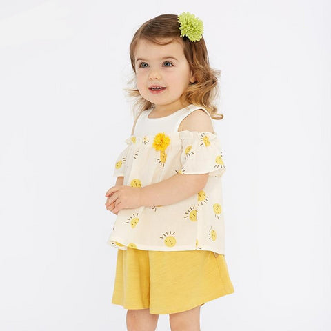 summer baby girl clothing sets cute print children suits  infant high quality clothes girls pullover outfit