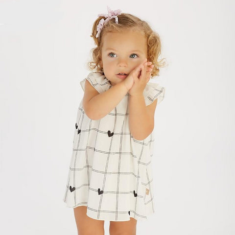 Summer baby girl's princess cute love plaid dress children fashion party dress kids infant clothes