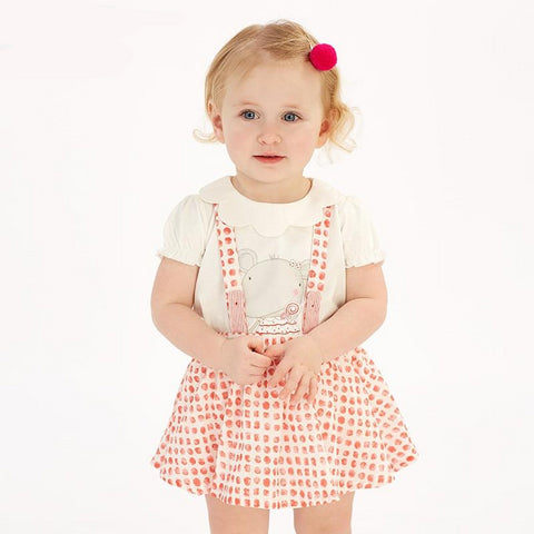 Spring infant baby girl's dot strap dress lolita birthday party suspenders dress toddler children clothes