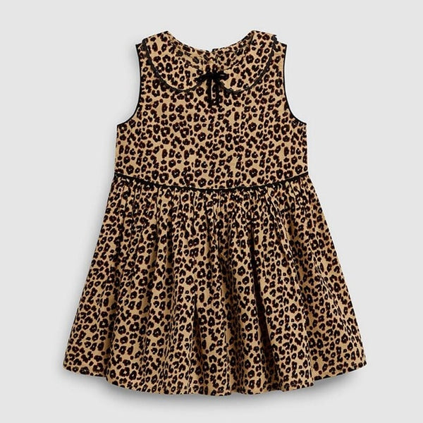 Little maven new summer baby girls clothes brand dress kids cotton animal Leopard fruit flower print sleeveless dresses
