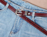 Female Antique Black Belt Metal Buckle Jeans Woman Genuine Leather Belt Waist Belt Hot Waistband Belts for Women