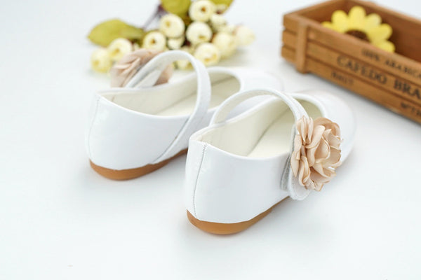 New Style Kids Casual Baby Children Shoes Microfiber Leather Girls Flat Princess Shoes Flower Dancing shoes size24-34