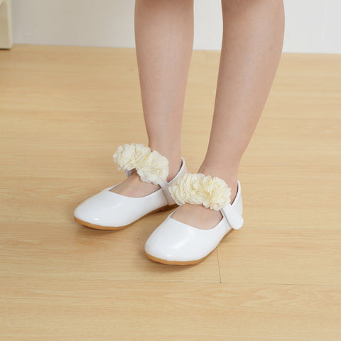 Autumn Children's shoes for girls sandals Girl's sandals Flower Summer women's beach shoes Solid Casual Princess Leather Shoes